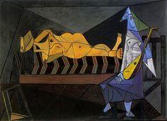 Pablo Picasso - 1942 L'aubade [La sВrВnade; Nu couchВ et musicienne assise]