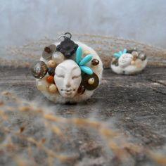 Tabita a Tamara / Zboží prodejce Livele Brooches Handmade, Needle Felting, Stud Earrings, Jewelry, Jewlery, Jewerly, Stud Earring, Schmuck, Jewels