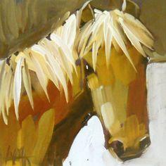 cream colored pony print by artist angela moulton by prattcreekart