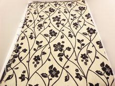 Fabricut Floral Fabric (1.5 Yards) Black and Ivory + FREE SAMPLES!!!!! on Etsy, $29.99