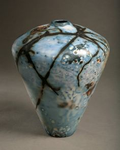 Tim Scull: Saggar Fired Vessels Blue Series • Ceramics Now - Contemporary ceramics magazine