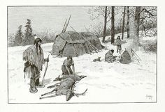 Indian Hunting Scene, 1884, Henry Wolf, Copy after Henry F. Farny, Edward S. Ellis (Publisher), photomechanical wood engraving on paper, 2 3/8 x 3 1/2 in. (5.9 x 8.9 cm), Smithsonian American Art Museum Transfer from the Archives of American Art, Smithsonian Institution, 1973.130.13