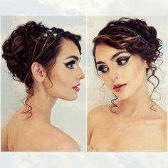 Greek Goddess Updo & Bronze Makeup