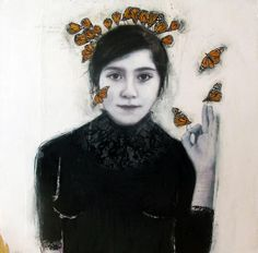 Dominique Fortin. Lumière III. Mixed media on wood.