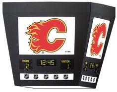 IAX Sports Calgary Flames Scoreboard Light - Love it! Nhl Jerseys, Hockey Teams, National Hockey League, Toronto Maple Leafs, Fire And Ice, Chicago Cubs Logo, Calgary, Future House, Kid Stuff
