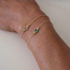 Single Drop onyx bracelet