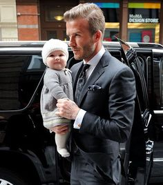 david beckham and little harper