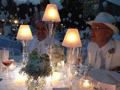 a well lit tablescape idea from Diner en Blanc Cincinnati, 2012