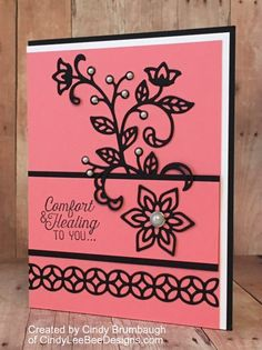 Stampin' Up Flourishing Phrases Comfort and Healing by Cindy Brumbaugh of CindyLeeBeeDesigns.com