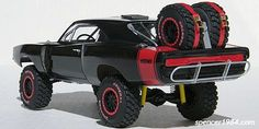 Finally finished this off over the weekend. It started as a Revell Charger body on an AMT NASCAR chassis, though there's not much left of either one. Rc Cars And Trucks, Cool Trucks, Cool Cars, Model Cars Kits, Kit Cars, Radios, New Luxury Cars, Offroader, Trophy Truck