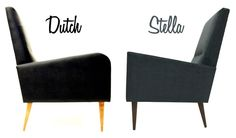 The Dutch and Stella Lounge Chairs by Atomic Chair Company! www.atomicchaircompany.com