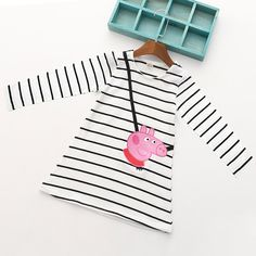 girl dress long sleeve on sale at reasonable prices, buy Cartoon Lovely Pink Pig Baby Girl Dress Long Sleeve Striped Kids Dresses Cotton Children Clothing Hot Sale 2017 from mobile site on Aliexpress Now!