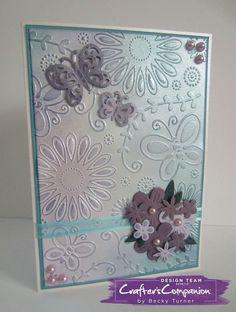5x7 Card made with Crafter's Companion Gemini Machine dies and folders. Designed by Becky Turner #crafterscompanion.