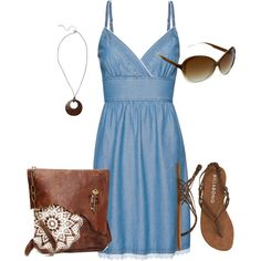 A Hot and Simple Day by mosren on Polyvore