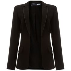 Sportmax Code Roberta structured pocket blazer (1.230 DKK) ❤ liked on Polyvore featuring outerwear, jackets, blazers, coats, chaquetas, black, sale, long sleeve blazer, structured blazer and long sleeve jacket