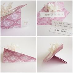 "wedding name cards / escort cards ""Paper airplane"" http://leafleaf.shop-pro.jp/?pid=54435927"