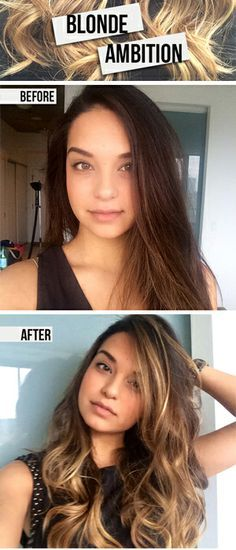 How to get natural looking beachy highlights naturally lighten our editor goes blonde tells you how you can too at home solutioingenieria Images