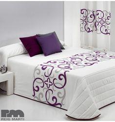 Seven Piece Duvet Cover Set Comforter Sets, Duvet, Bed Cover Design, Designer Bed Sheets, Painted Beds, Embroidered Bedding, Purple Bedrooms, Diy Bed, Fashion Room
