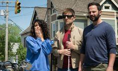 Adam Scott, Nick Kroll and Jenny Slate in My Blind Brother