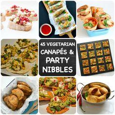 Vegetarian Party Nibbles & Canapés