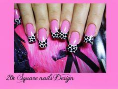 20x Square nail,Pink nail Design UV Gel,false nails,fake nail+free shipping+Glue