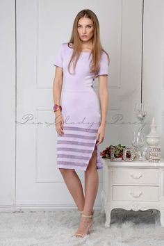 Blake in by Lilac Dress, Fitted Skirt, Spring Summer 2015, Short Sleeves, Lady, Skirts, Model, How To Wear, Collection