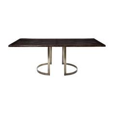 """Nobelle 60"""" Dining Table with Wells Base in Antique Pewter"""