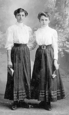 Two women posing - c. 1910's