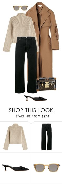 """""""4/12."""" by deborarosa ❤ liked on Polyvore featuring Rosetta Getty, RE/DONE, Manolo Blahnik and Yves Saint Laurent"""