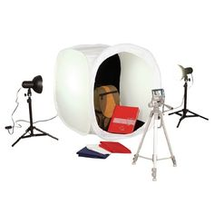 Square Perfect SP500 Platinum Photo Studio In A Box with 2 Light Tents & 8 Backgrounds For Product Photography $89.95