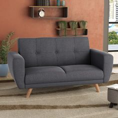 Classic meets contemporary with the Farrow 2 Seater Clic Clac Sofa Bed. Upholstered in grey fabric this versatile sofa bed is stylish and practical. 4 Seater Sofa Bed, Sofa Bed Uk, Chesterfield Sofa Bed, Ikea Sofa Bed, Couch, Sofa Design, Childrens Sofa Bed, Outdoor Sofa, Ikea Patio Furniture