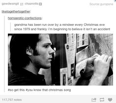 "The Supernatural Fandom forever taking over posts that have nothing to do with them. impressivelyordinary: "" wooweemama: "" "" I tried to read all of these but I couldn't make it "" Holy Chuck, we have a. Supernatural Tumblr, My Demons, Sam Winchester, Destiel, Superwholock, Bobby, Fangirl, Harry Potter, Fandoms"