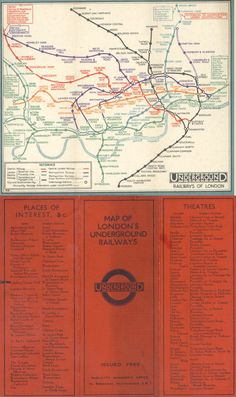 1932 Tube Map Before Beck