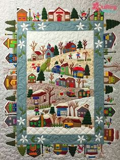 Beautiful Applique House Quilt