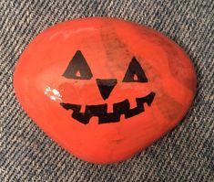 Halloween is almost here. (09/2021) Kindness Rocks, Paint Pens, Bat Signal, Superhero Logos, Painted Rocks, Concept, Rock Painting, Halloween, Artist