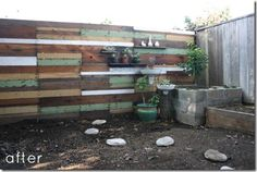 DIY decor fence