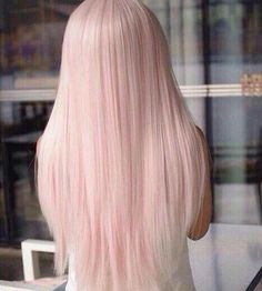 Red or Pink Hair Color Tones-Haare pastell , inspirierende modelle zu testen Pastel Pink Hair, Baby Pink Hair, Long Pink Hair, Pink Blonde Hair, Pastel Wig, Long White Hair, Pale Blonde, Violet Hair, Platinum Blonde