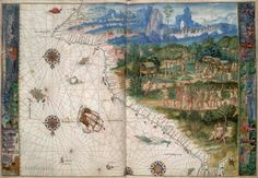 """Portuguese map of the Australian Coast from 1522 - """"Beyond Capricorn"""" by Peter Trickett"""