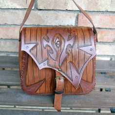 World of WarcraftLeather bagFor The by ForgianticaLeather on Etsy, $105.00
