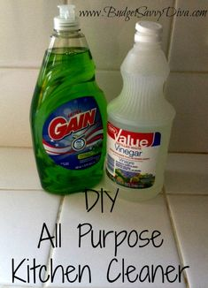 Budget Savvy Diva's all purpose cleaner recipe + other tips