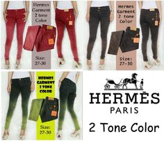 jegging hermes 2 tone color  idr 100.000,-  size 27-30 order by:   SMS : 082125527553 PIN BB : 2742c300 ig @heppyfc twitter @heppyfc whatsapp : 081294822187 Line : @heppyfashion WEBSITE : http://heppyfashion.com/