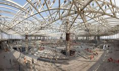 Image 10 of 23 from gallery of Chhatrapati Shivaji International Airport - Terminal 2 / SOM. Constuction of steel truss system. Mini Clubman, International Flights, International Airport, Technical Architect, Mumbai Airport, Steel Trusses, Airport Transportation, Unusual Buildings, Building Structure