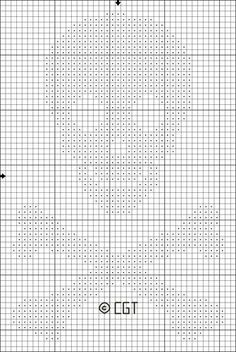 Stitch this free Small Skull and Crossbones Cross Stitch pattern for Halloween project or add it to a favorite pair of jeans for a customized project.