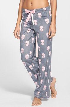 PJ Salvage 'Polar' Polka Dot Fleece Pants available at #Nordstrom