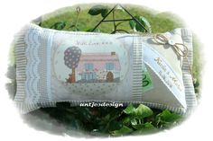 Geldgeschenke - Hochzeitsgeschenk Kissen Geld Shabby - with Love - ein Designerstück von antjesdesign bei DaWanda