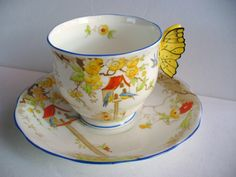 Royal Albert  Dovecot Butterfly Handle
