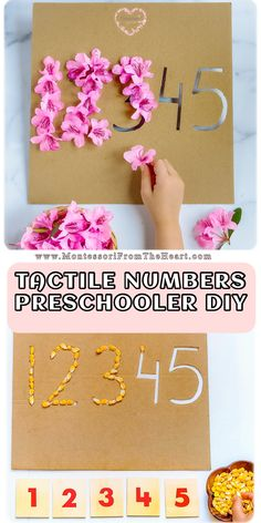 DIY from cardboard to reinforce number recognition and formation by using loose items. games for toddlers Montessori Materials, Montessori Activities, Infant Activities, Classroom Activities, Activities For Kids, Crafts For Kids, Dementia Activities, Color Activities, Indoor Activities