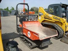 For sale Mini Dumper Kubota KC 70 Second Hand. Manufacture year: 2011. Working hours: 200. Weight: 510 kg. Power: 4,1 (5,6) kW Volume: 360 Liter Payload: 700 kg Overall widht: 880 mm Overall height: 1360 mm  Overall length: 2300 mm Excellent running condition. Ask us for price. Reference Number: AC988. Baurent Romania.