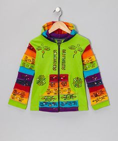 Handmade in Nepal, this piece displays local artisan designs along the zippers, kangaroo pockets and everywhere in between. The vibrant tones set this hoodie a world apart from the rest. Note: This one-of-a-kind item is handmade and may appear in colors other than shown.