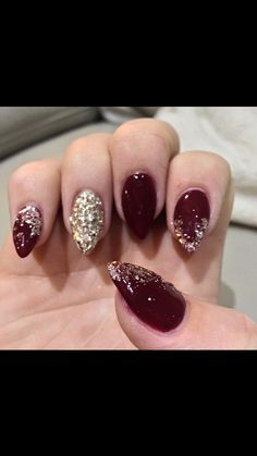 Gel nails with glitter fade
